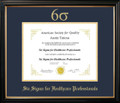 Six Sigma for Healthcare Professionals Frame Black with Navy Mat