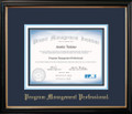PgMP® Certificate Frame Black with Navy Mat