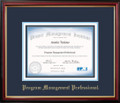 PgMP® Certificate Frame Mahogany with Navy Mat