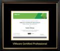VMWare Certifcate Frame Black with Black Mat