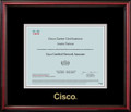 Cisco® Certificate Frame Cherry with Black Mat