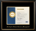 Society For Human Resource Management Frame Black with Black Mat