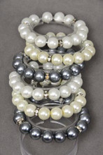 BRACELET GLASS PEARL 12MM