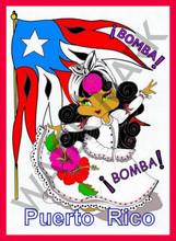 """BOMBA PUERTO RICO 18"""" X 24"""""""