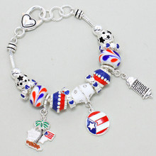 MULTI BEAD BRACELET FLAG