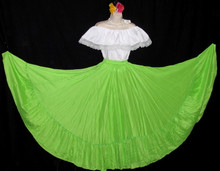 CIRCULAR BRIGHT GREEN DANCE SKIRT