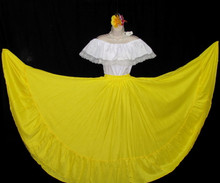 CIRCULAR BRIGHT YELLOW DANCE SKIRT