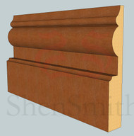 1914 Oak Skirting Board - 3m Lengths