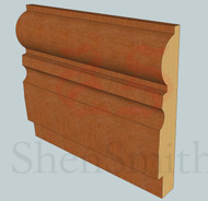 323 Oak Skirting Board - 3m Lengths
