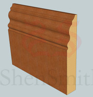 330 Oak Skirting Board - 3m Lengths