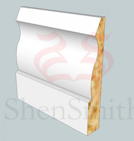 Large-Ogee MDF Skirting Board - 3m Lengths