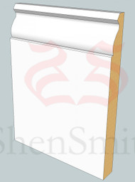 Small-Ogee MDF Skirting Board - 3m Lengths