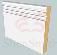 Modern-2 MDF Skirting Board - 5.4m Lengths