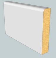 Pencil Round MDF Skirting Board - 3m Lengths