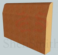 Chamfered & Round Oak Skirting Board - 3m Lengths x 18mm