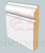 SP02 Profile MDF Skirting Board - 5.4m Lengths