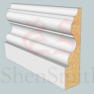 SP21 Profile MDF Skirting Board - 5.4m Lengths