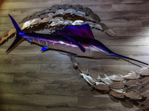Straight Sailfish - Custom Metal Wall Hanging Sculpture Art