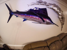 "60"" Darting Sailfish - Custom Fish Sculpture"