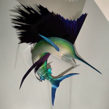 "60"" Emerald Sailfish - Custom Fish Sculpture"