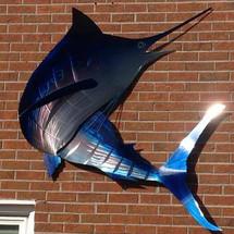 """36"""" Turning Blue Marlin  - Custom Fish Sculpture"""