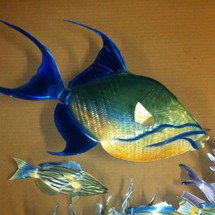 "30"" Queen Triggerfish - Custom Fish Sculpture"