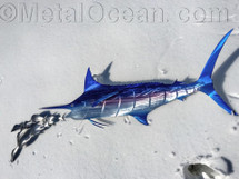 "60"" Straight Blue Marlin - Custom Fish Sculpture"
