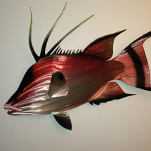 Hogfish - Custom Metal Wall Hanging Sculpture Art