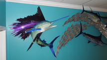 "48"" Emerald Sailfish - Custom Fish Sculpture"