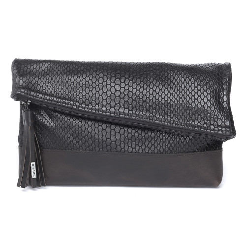 DENTALI DOMINO LEATHER CLUTCH