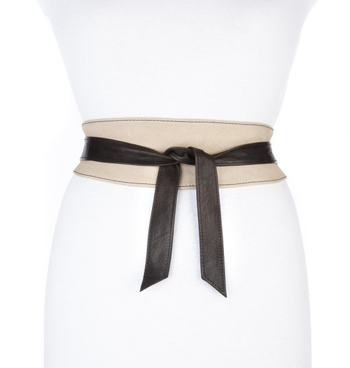 Nina leather wrap belt