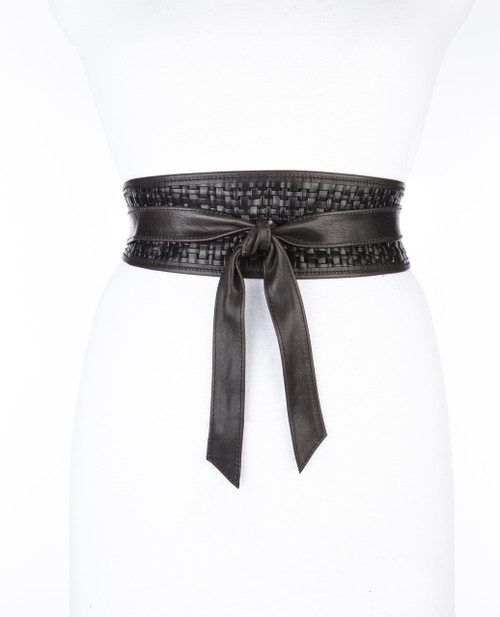 SUKI WOVEN LEATHER WRAP BELT