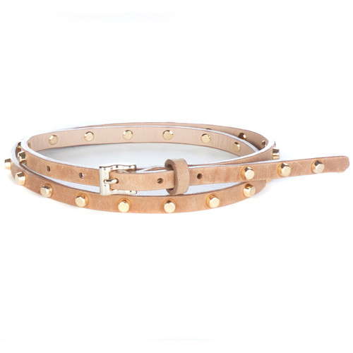 Avis studded leather belt