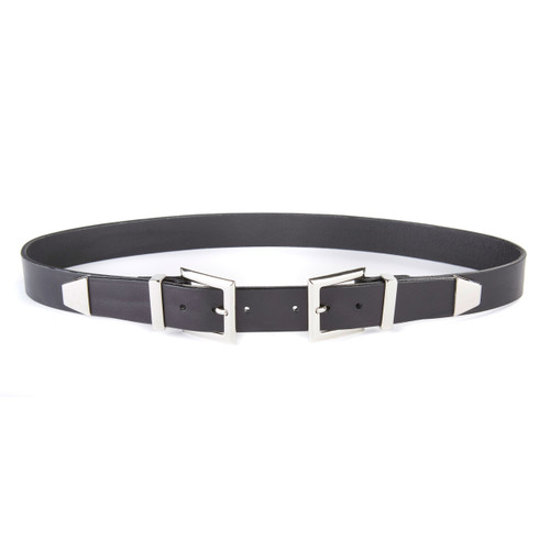 Antoinet Double Buckle Belt in Black
