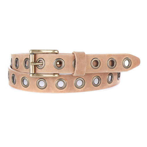 DAI STUDDED LEATHER BELT