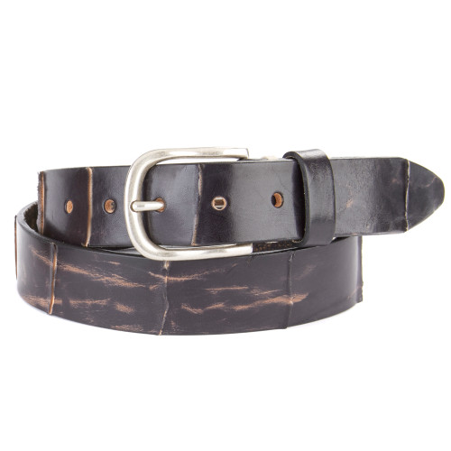 Everett Leather Belt in Smog
