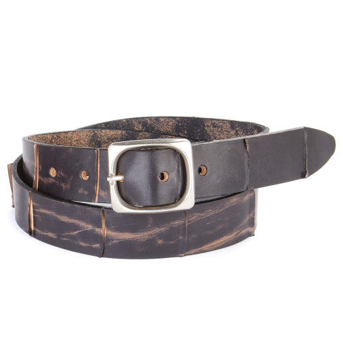 Catina Leather Belt in Smog