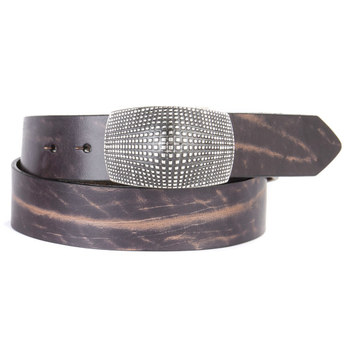 Jaylend leather belt in Smog