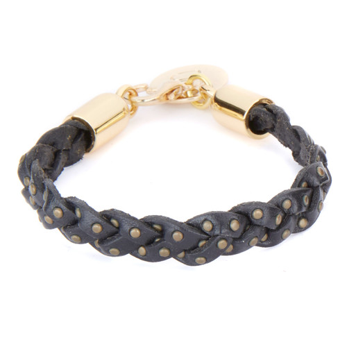 Rinker braided cuff in Black