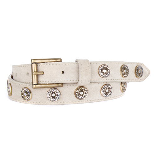 Bellsie Belt in Sand Suede