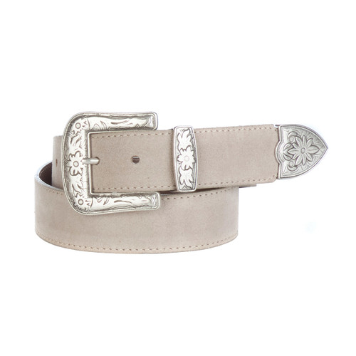 Omes belt in sand suede