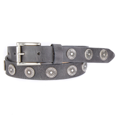Bellsie leather belt in smoke
