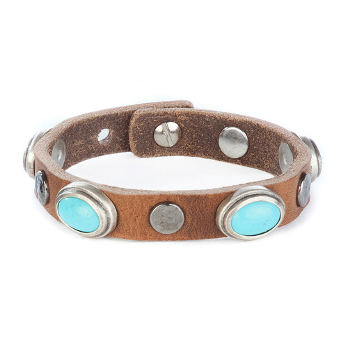 Parvati studded cuff in brandy
