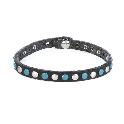 Sri studded bracelet in black