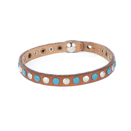 Sri studded bracelet in brandy