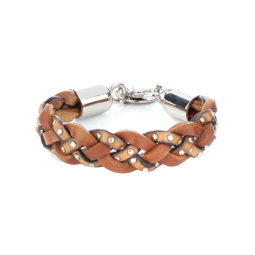 Loic braided cuff in brandy