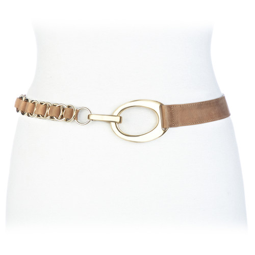 Katica Leather belt in biscuit