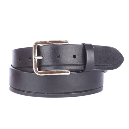Adamo leather denim belt in black