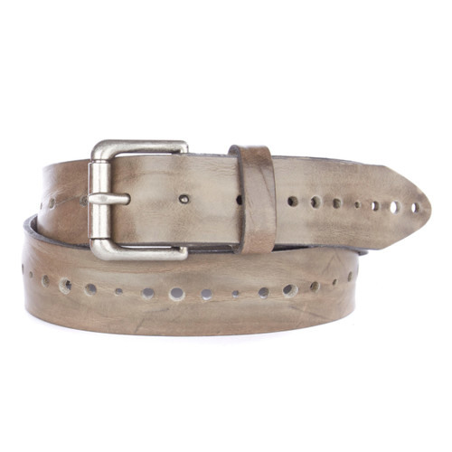 Anda Laser cut belt in greystone