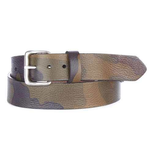 Tadala Camo Leather Belt